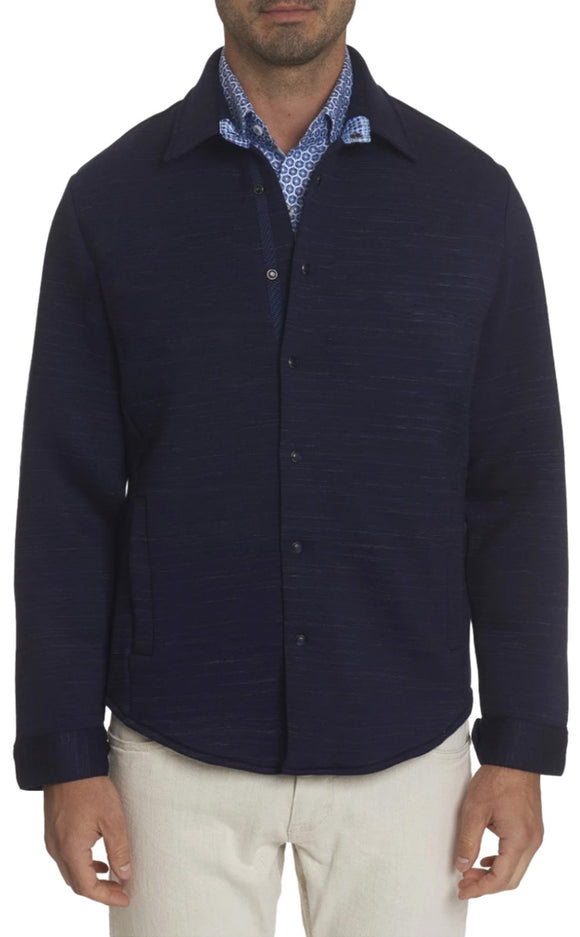 Robert Graham Navy Renson Knit Outerwear
