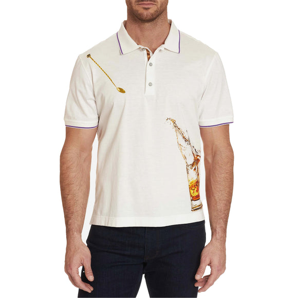 Robert Graham White Skull On The Rocks Polo