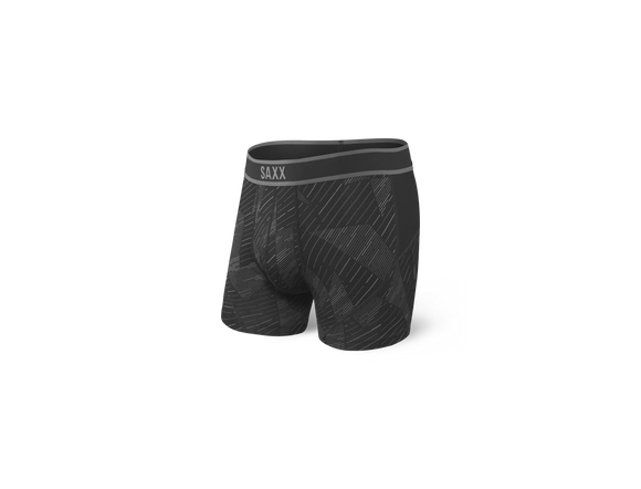 SAXX Black Shattered Kinetic Boxer Briefs