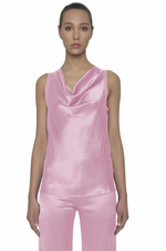 Load image into Gallery viewer, Maison de Papillon Rose & Pearl Susan Charmeuse Top