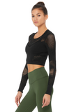 Alo Yoga Black Siren Long Sleeve Top