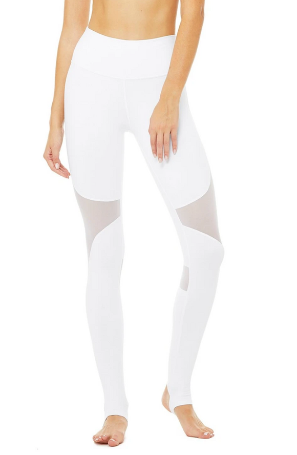 Alo Yoga White High Waist Coast Legging