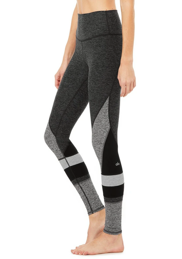 Alo Yoga Dark Grey & Heather High Waist Alosoft Momentum Leggings