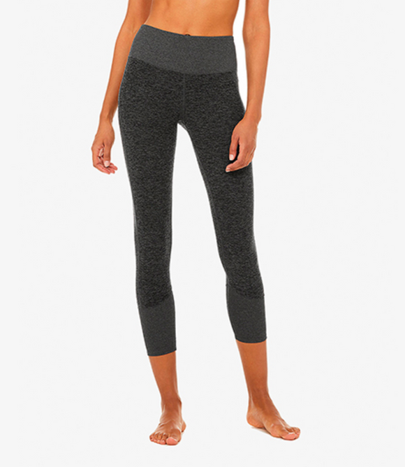 Alo Yoga Dark Heather 7/8 High Waist Lounge Legging