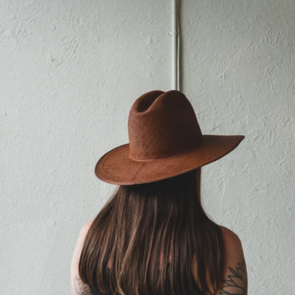 Brookes Boswell Dark Brown Savoy Panama Straw Hat