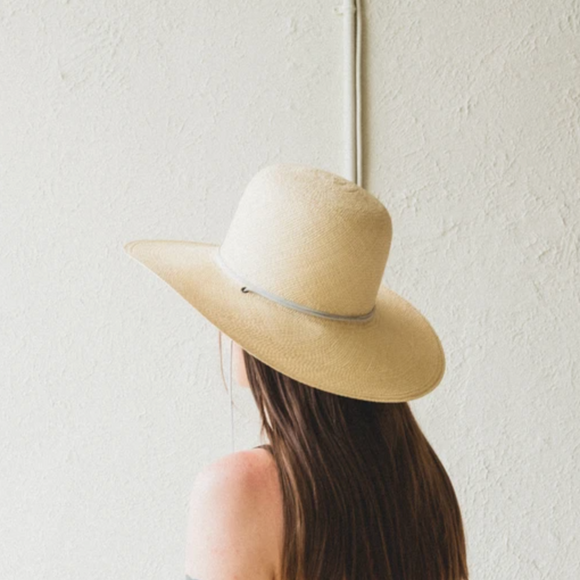 Brookes Boswell Natural Suncrest Panama Straw Hat