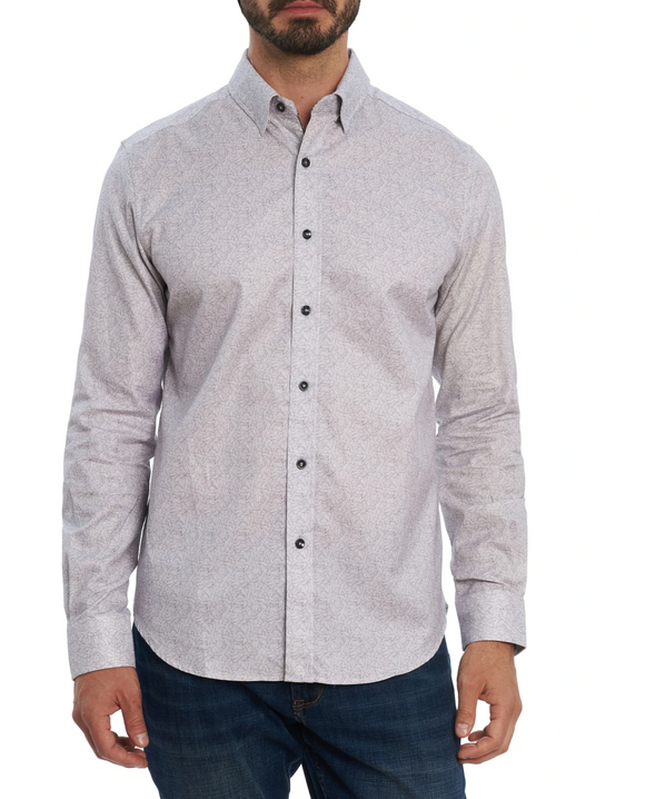 Robert Graham Light Grey Solis Sport Shirt