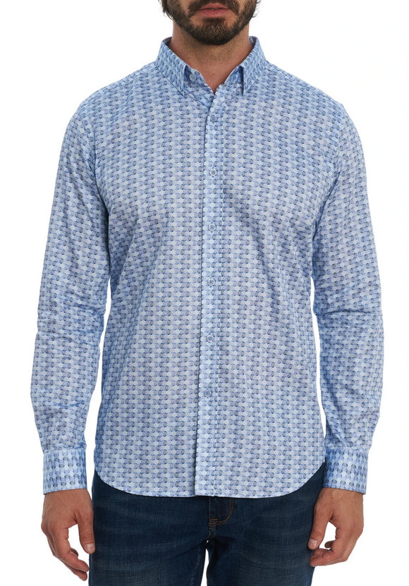 Robert Graham Blue Burdon Sport Shirt