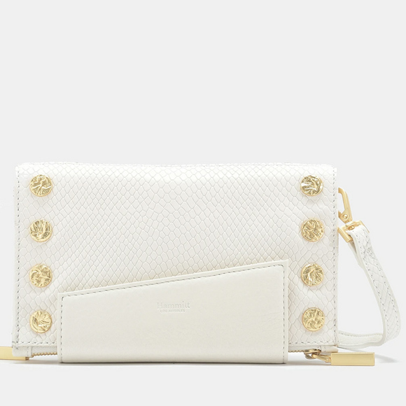 Hammitt Marshmallow White Snake Levy Transitional Bag