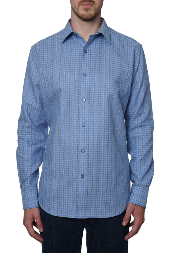 Robert Graham Blue Dufay Sport Shirt