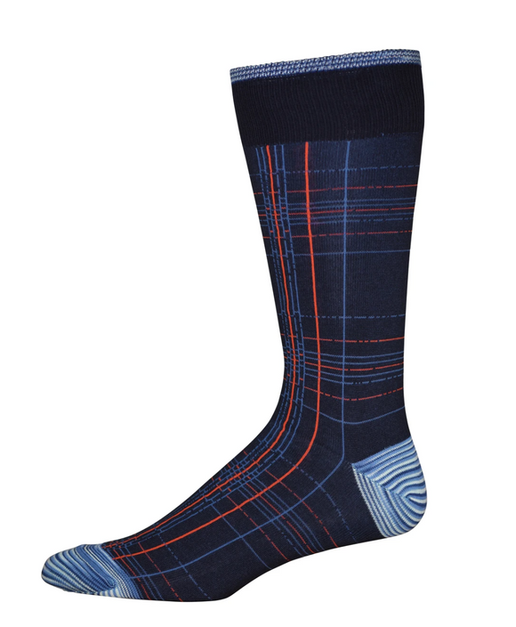 Robert Graham Navy Shew Sock