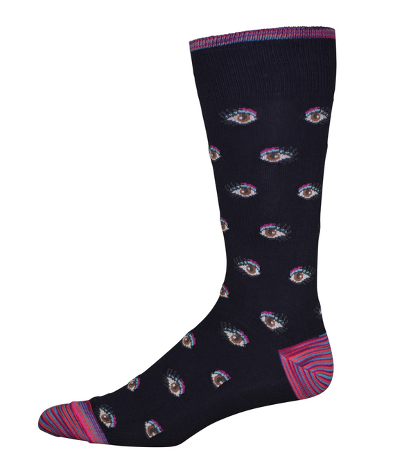Robert Graham Navy Illusionism Sock