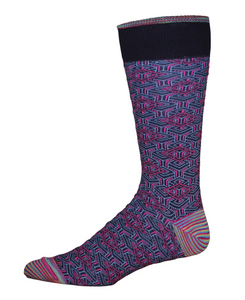 Robert Graham Navy Pieta Sock