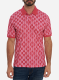 Robert Graham Pink Baritone Polo