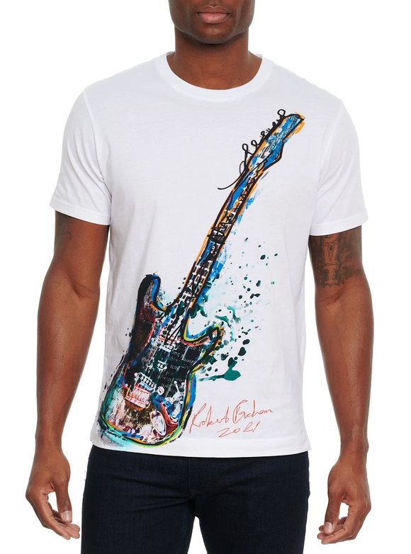 Robert Graham White Rock Out Shirt