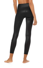 Load image into Gallery viewer, Alo Yoga 7/8 High-Waist Shine Legging - Black Shine