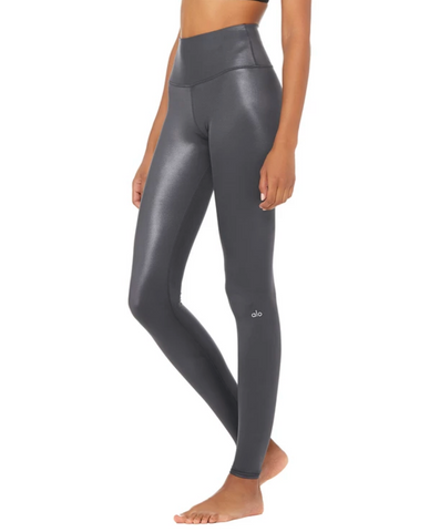 Alo Yoga  - Anthracite Shine High Waist