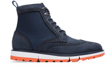 Swims Navy Motion Wing Tip Boot