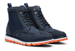 Load image into Gallery viewer, Swims Navy Motion Wing Tip Boot