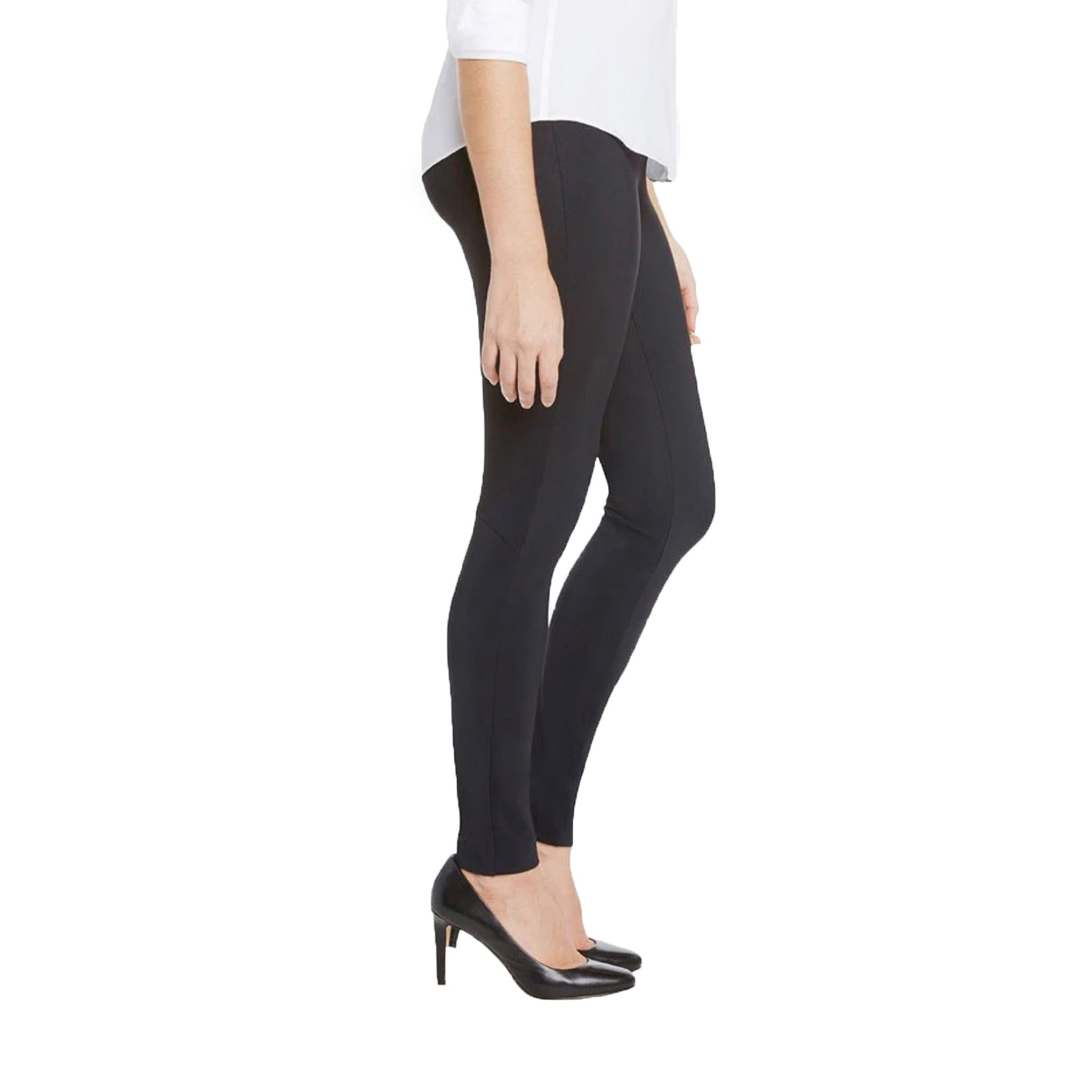 The Stacey, a perfect classic Black Legging for every occasion, by Ameliora, Side view.