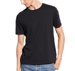 Vince Black Pima Cotton Crew Neck T-shirt