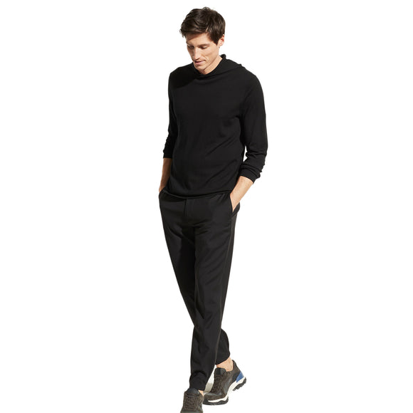 Vince Black Featherweight Wool Cashmere Pullover Hoodie
