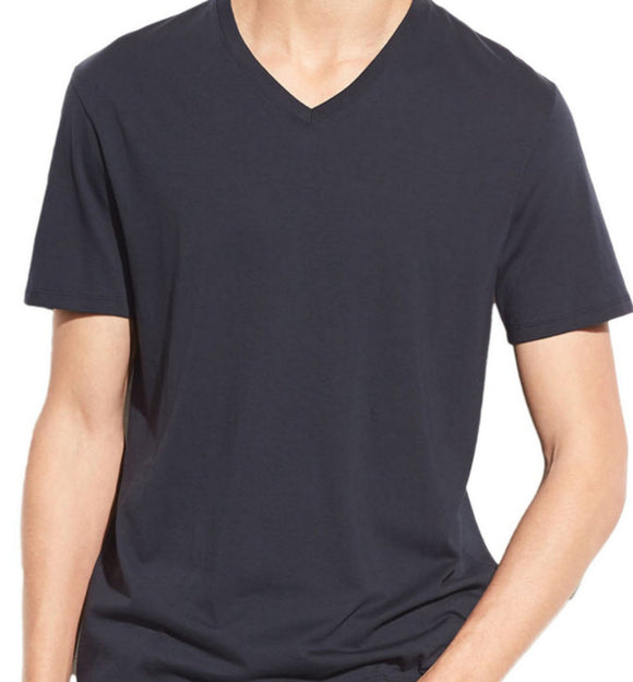 Vince Coastal Blue Pima Cotton V-Neck T-Shirt