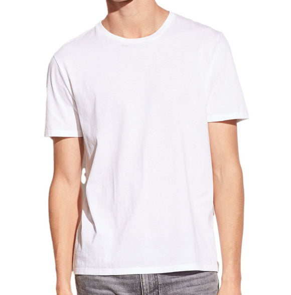 White, short sleeve crew neck tee made of soft pima cotton, by Vince.