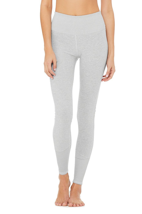 Alo Yoga Heather Grey High Waist Lounge Legging