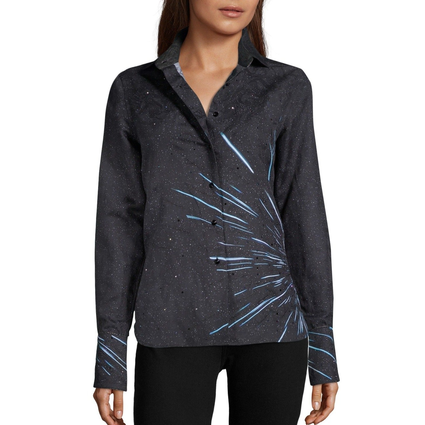 Star Wars™ | Robert Graham - Light Speed - Black Women's Blouse