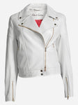 RG - Monroe Leather Jkt - White