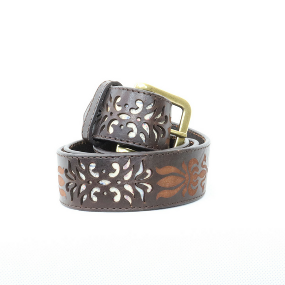 Robert Graham Brown Leather Winstead Belt