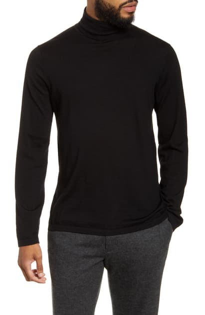 Vince Black Cashmere-blend Turtleneck