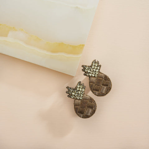 Mignonne Gavigan Bronze Pineapple Stud Earings