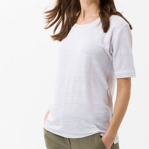 BRAX Cathy Linen Shirt White