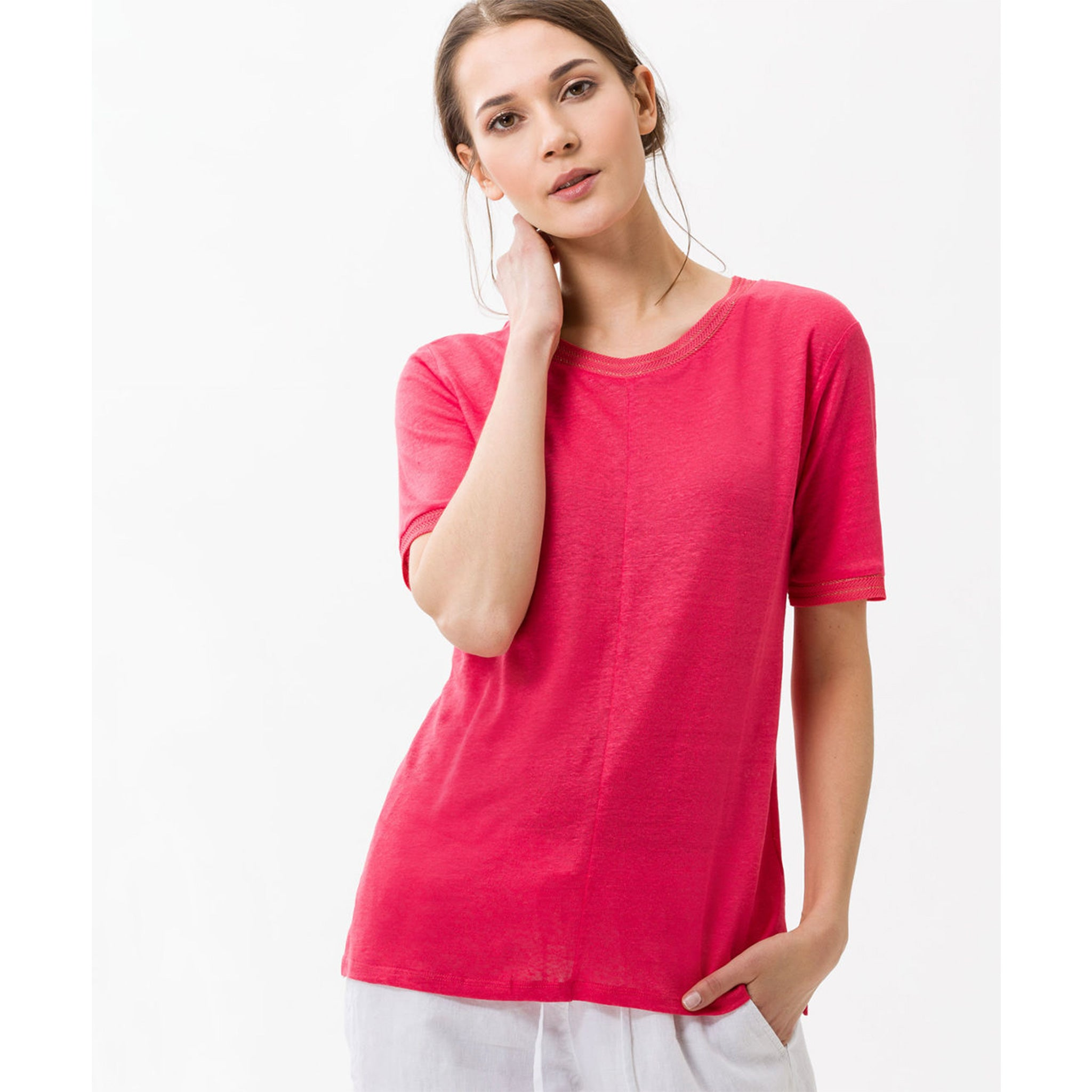 Brax - Cathy Linen Shirt Papaya