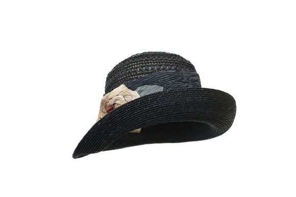 Grevi - Form 1920s -  Raised Brim Straw Hat style 9013/TR1209-556
