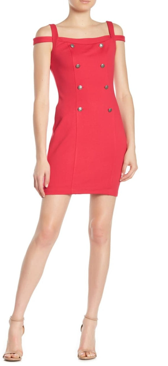 Bailey 44 Rich Red Commissar Ponte Dress