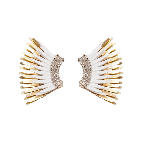 Mignonne Gavigan White Gold Mini Madeline Earrings