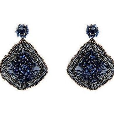 Mignonne Gavigan Navy Emilia Flower Earrings