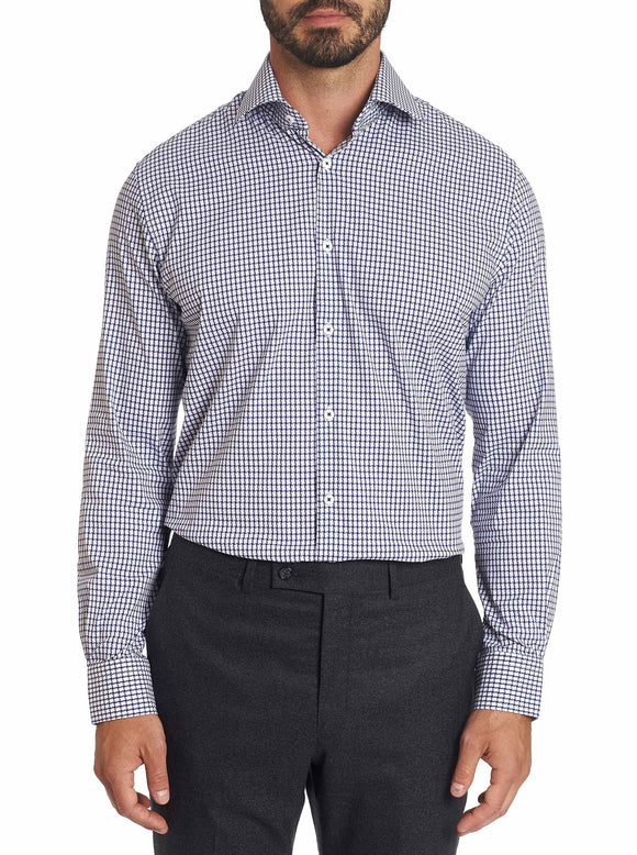 Robert Graham Blue Acton Dress Shirt