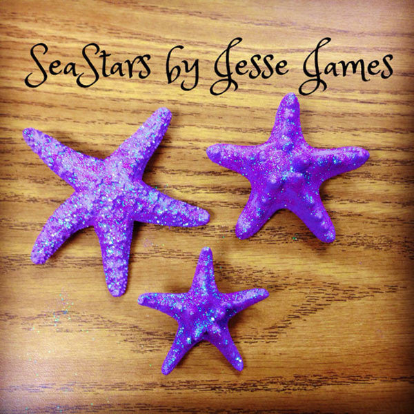 Starfish Hair Clip (Dark Purple & Glitter)