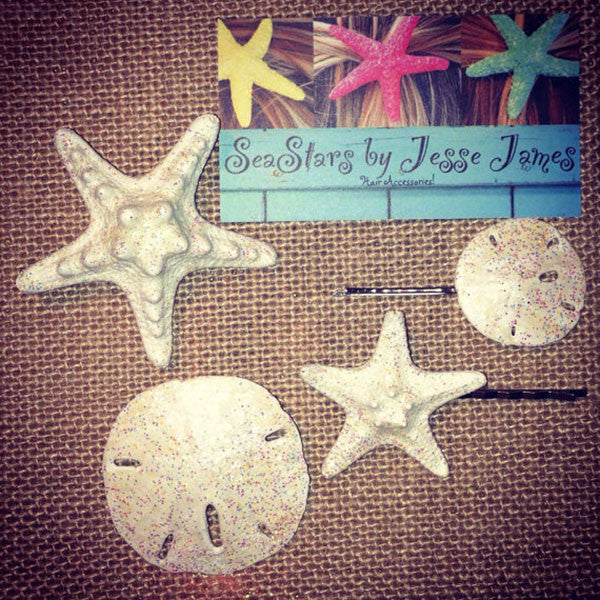 Starfish Hair Clip Wedding Set