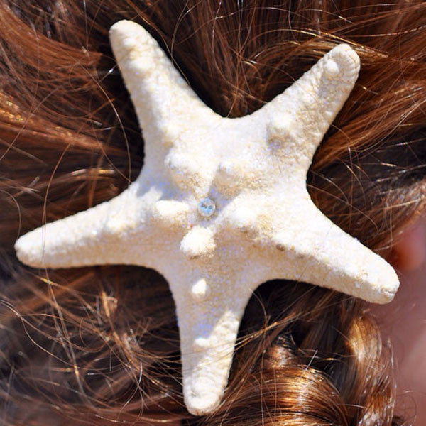 Knobby Starfish clip with rhinestone