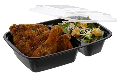 2 Compartment Oblong Containers