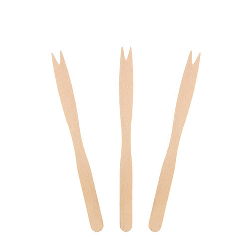 Two Prong Wooden Forks
