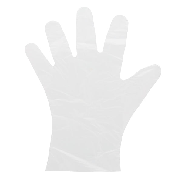 Glove, Foodguard, Embossed HDPE, PF, Small laying flat.