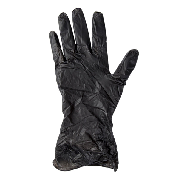 Glove, Bandit Black Vinyl, PF, Small Glove Flat