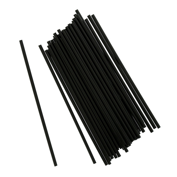"5"" Black Unwrapped Stirrers"