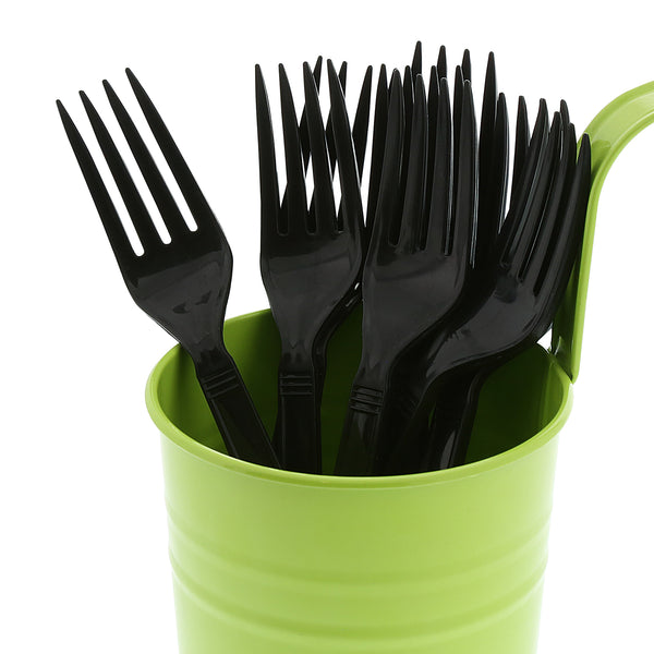 Heavy Weight Black Polypropylene Forks